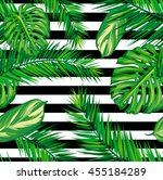 beautiful seamless tropical... | Shutterstock .eps vector #455184289