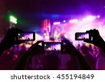 take photo crowd in front of... | Shutterstock . vector #455194849