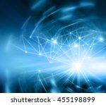 best internet concept of global ... | Shutterstock . vector #455198899