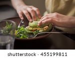 picture of vegan dish... | Shutterstock . vector #455199811