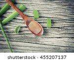 Organic Aloe Vera Gel In Woode...