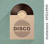vinyl record with envelope.... | Shutterstock .eps vector #455215945