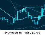 data analyzing in forex market... | Shutterstock . vector #455216791