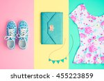 fashion. clothes accessories... | Shutterstock . vector #455223859