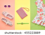 fashion. clothes accessories... | Shutterstock . vector #455223889
