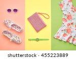 fashion. clothes accessories... | Shutterstock . vector #455223889