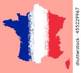 map of france with the... | Shutterstock .eps vector #455229967