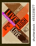 live laugh love. creative... | Shutterstock .eps vector #455235877