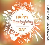 happy thanksgiving card design... | Shutterstock .eps vector #455240041
