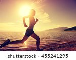 healthy young fitness woman... | Shutterstock . vector #455241295