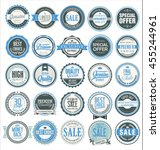 retro badges and labels... | Shutterstock .eps vector #455244961