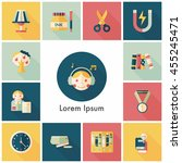 school and education icons set | Shutterstock .eps vector #455245471