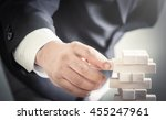 trust concept  businessman... | Shutterstock . vector #455247961