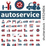 autoservice signs. vector | Shutterstock .eps vector #45524806