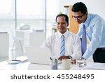 indian business people working... | Shutterstock . vector #455248495