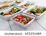 healthy food delivery and diet... | Shutterstock . vector #455251489