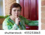 Nosey Mature Woman Spying Nea...