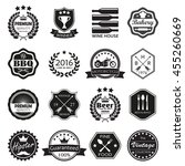 labels and  badges set. vintage ... | Shutterstock .eps vector #455260669