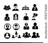 people icon illustration design | Shutterstock .eps vector #455271604