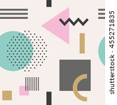 geometric figures seamless... | Shutterstock .eps vector #455271835
