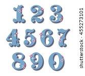 vintage ornamental numbers | Shutterstock .eps vector #455273101