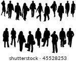 illustration of business people | Shutterstock .eps vector #45528253