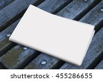 mock up newspaper on the bench  ... | Shutterstock . vector #455286655