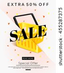 sale banner design. vector eps... | Shutterstock .eps vector #455287375