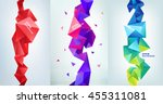 vector set of faceted 3d... | Shutterstock .eps vector #455311081