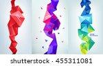 vector set of faceted 3d... | Shutterstock .eps vector #455311081