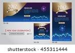 vector 2017 happy new year... | Shutterstock .eps vector #455311444