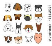dog freehand character design | Shutterstock .eps vector #455315314