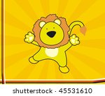 background with cartoon lion in ... | Shutterstock .eps vector #45531610