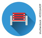 tennis player bench icon. flat...