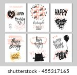 hand drawn vector abstract... | Shutterstock .eps vector #455317165