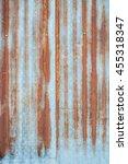 rust on galvanized iron | Shutterstock . vector #455318347