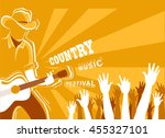 country music festival poster... | Shutterstock .eps vector #455327101