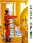 operator open or close manual... | Shutterstock . vector #455328121