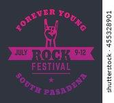 rock festival poster design ... | Shutterstock .eps vector #455328901