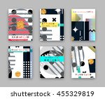 fashionable original cover.... | Shutterstock .eps vector #455329819
