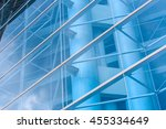 commercial building close up to ... | Shutterstock . vector #455334649