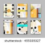fashionable original cover....   Shutterstock .eps vector #455335327