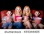 big sisters with little...   Shutterstock . vector #455344405