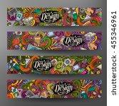 cartoon colorful vector hand... | Shutterstock .eps vector #455346961