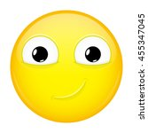 smiling emoji. smirk emotion.... | Shutterstock .eps vector #455347045