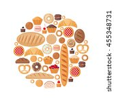 circle shape with various... | Shutterstock .eps vector #455348731