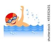 childrens sport in summertime.... | Shutterstock . vector #455352631