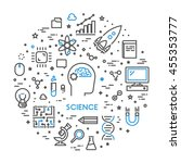 line web concept for science.... | Shutterstock .eps vector #455353777