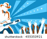 american country music concert ... | Shutterstock .eps vector #455353921