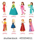vector illustration cartoon... | Shutterstock .eps vector #455354011